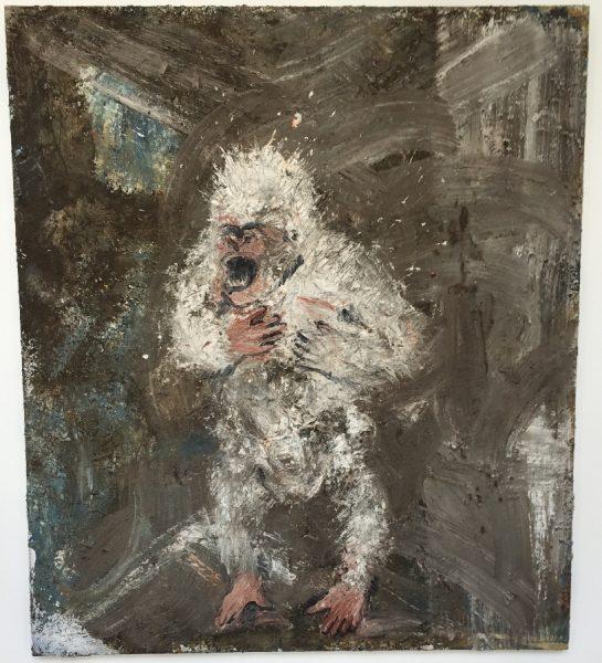 Floquet de neu, le gorille albinos, 1999, Technique mixte sur toile, 230x200cm ©isabelle henricot