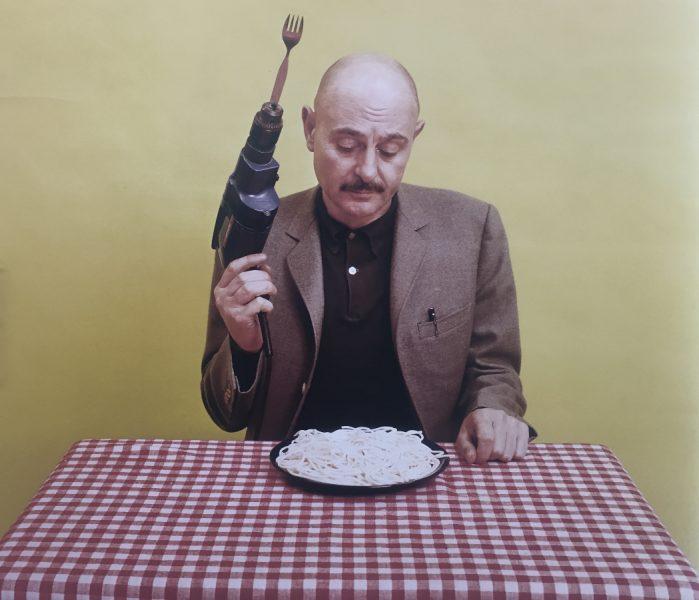 "Hara Kiri n° 126, mars 1972, fiche-bricolage du professeur Choron, La perceuse ""fourchettematic"" (Grande Halle)"