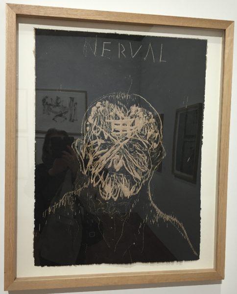 Nerval, série 12 Lletraferits (Blessés des lettres), 2015, gravure sur bois, 75x57 cm